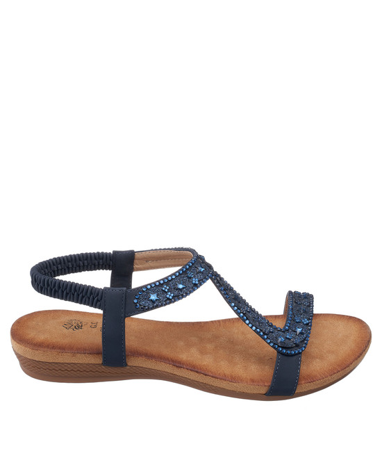 Resa Sandal in Navy