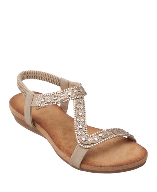 Resa Sandal in Gold