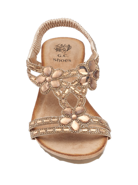 Leal Wedge Sandal in Gold