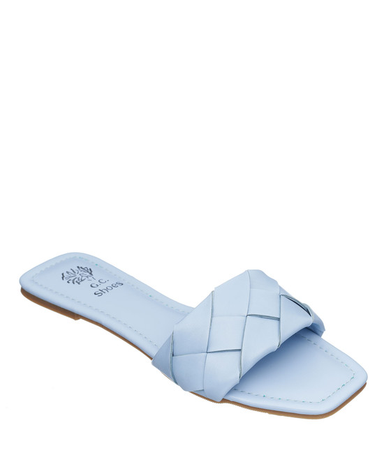 Tay Flat Sandal in Blue