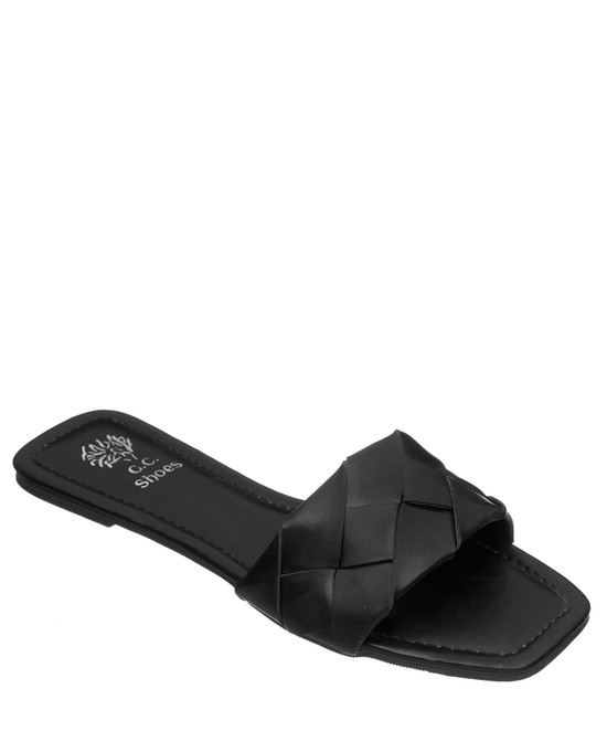 Tay Flat Sandal in Black