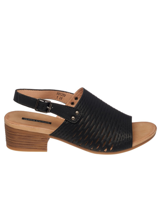 Melody Heeled Sandal in Black