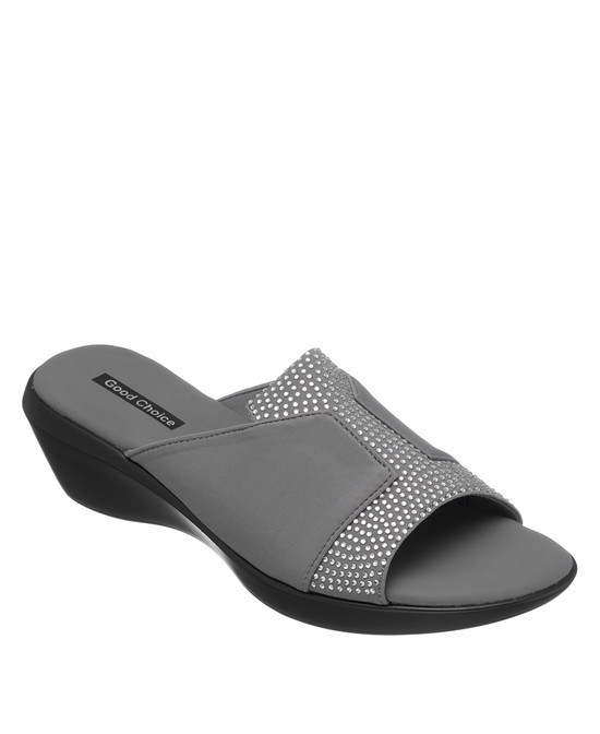 Capella Wedge Sandal in Grey