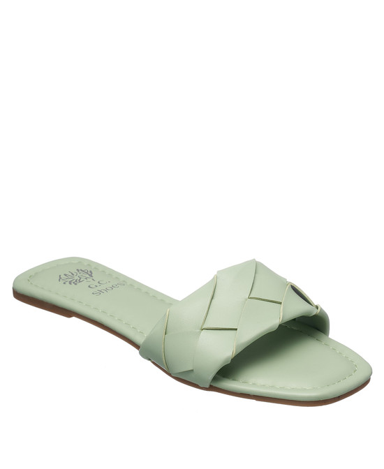 Tay Flat Sandal in Green