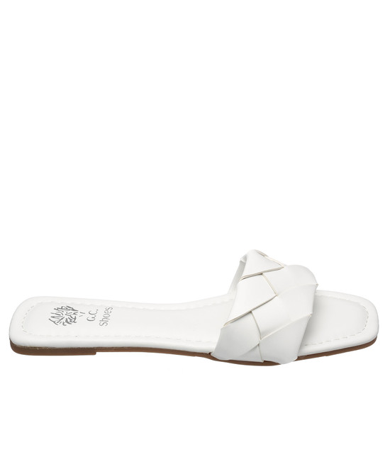 Tay Flat Sandal in White