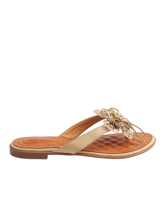 Vida Flat Sandal in Natural
