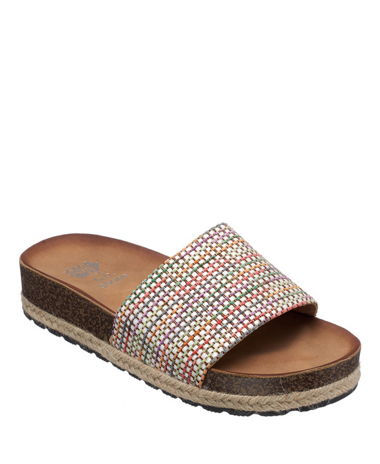 Rena Sandal in White-Multi