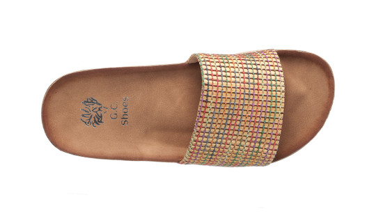 Rena Sandal in Beige-Multi