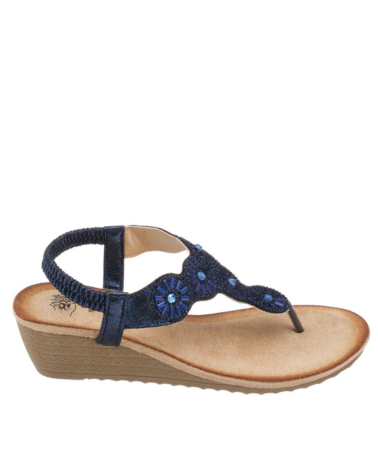 Jazmine Sandal in Navy