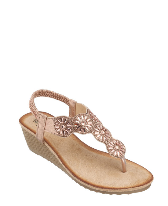 Jazmine Sandal in Rose Gold