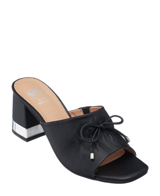 Addison Heeled Sandal in Black
