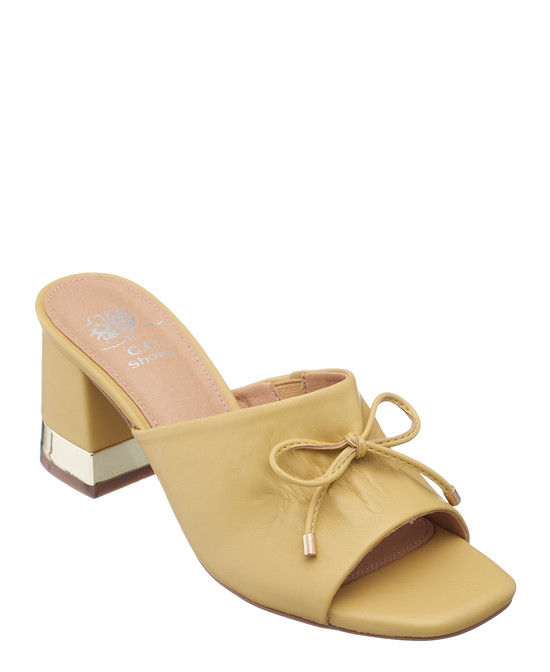Addison Heeled Sandal in Yellow