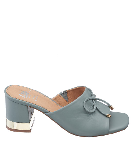 Addison Heeled Sandal in Blue