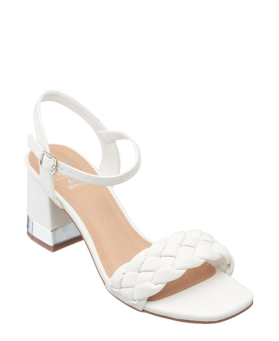 Mandee Heel in White