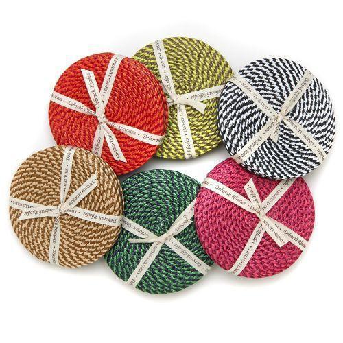 Basketweave Coasters by Deborah Rhodes