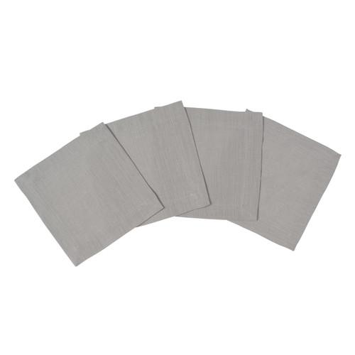 Silver Grey Linen Cocktail Napkin