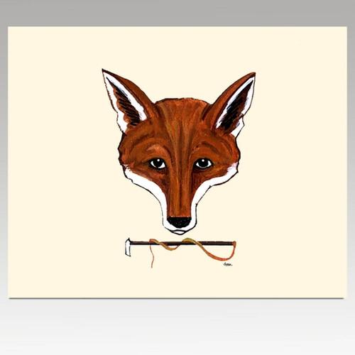 Fox Mask Cutting Board