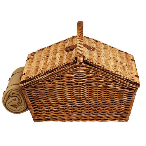 Huntsman Basket For 4 W/Coffee Set & Blanket