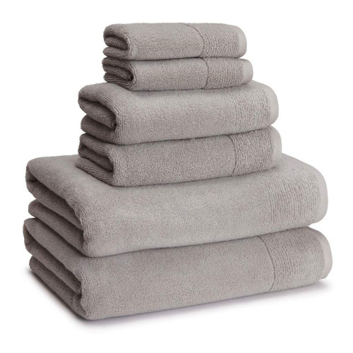 Kyoto Bamboo Bath Towels + Rugs | Dolphin Grey