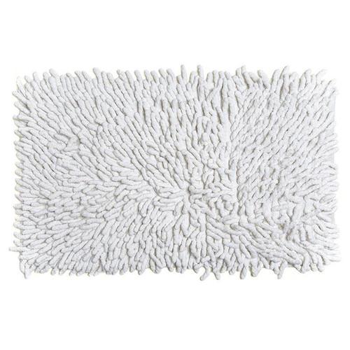 Cotton Chenille Bath Rugs | White