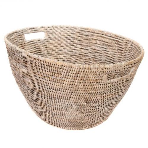"""Laundry Basket 25""""x17""""x12""""   Whitewash"""