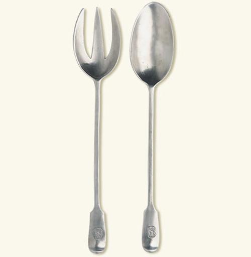 Antique Serving Fork & Spoon