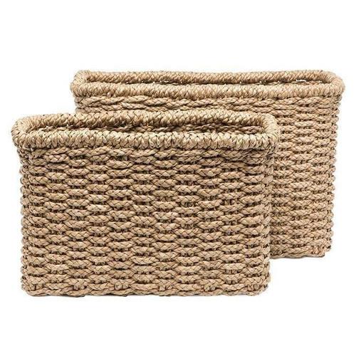 Pigeon & Poodle Yuma Rectangle Seagrass Basket Set/2