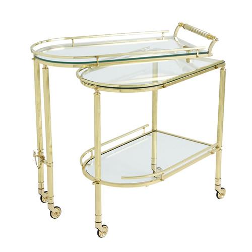 Gallery Folding Bar-Shiny Brass