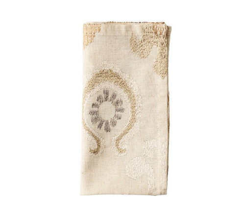 Marrakech Napkin in Natural, Ivory & Gold S/4