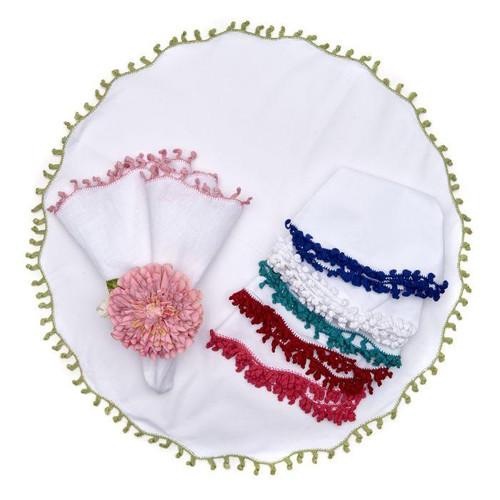 Lola Round Embroidered Napkin