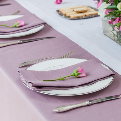 Heather Rectangular Linen Tablecloth