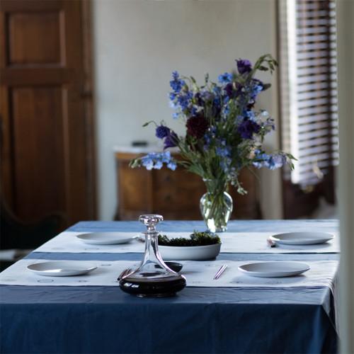 Navy Blue Rectangular Tablecloth