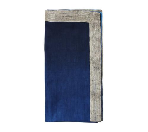 Dip Dye Napkin S/4   Navy & Blue