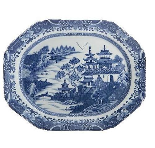 Blue Canton Oval Platter