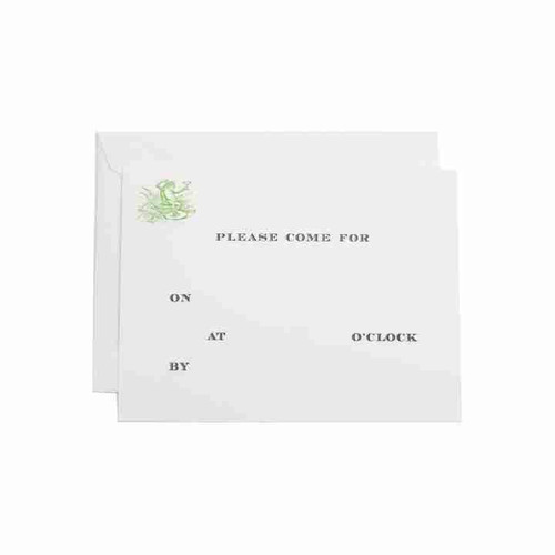 Cocktail Frog Fill-In Invitation
