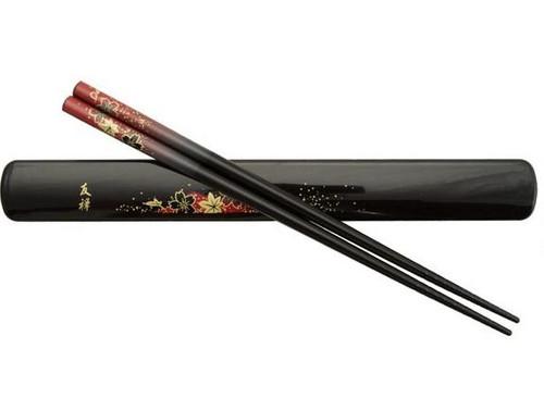 Chopsticks Box Set Red Leaves