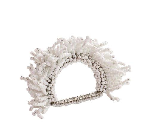 Carnival Napkin Rings S/4   White