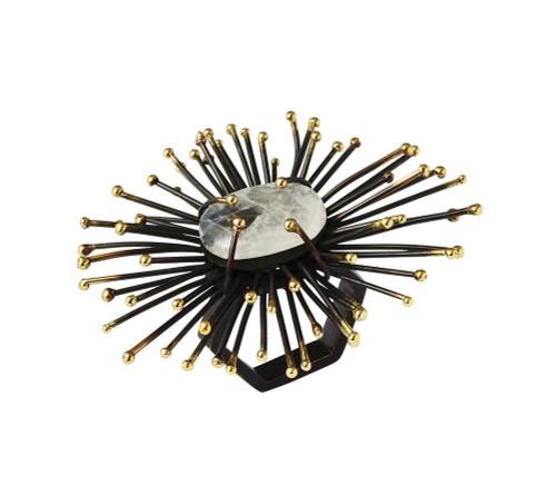 Flare Napkin Ring S/4   Gold & Black