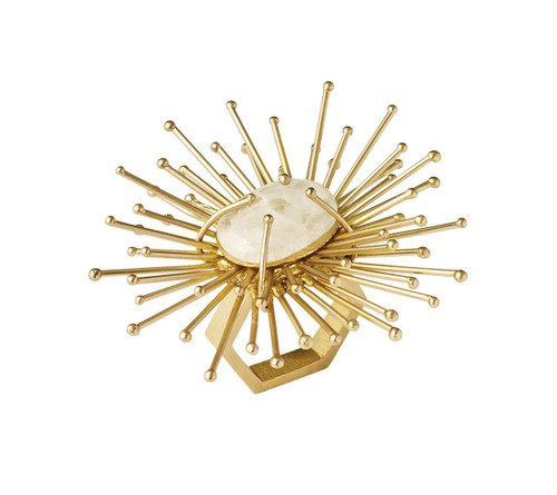 Flare Napkin Ring S/4   Gold