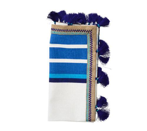 Jaipur Napkin | White & Blue | Set of 4