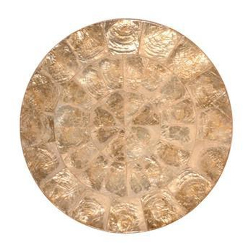 Round Capiz Placemats S/4    Champagne