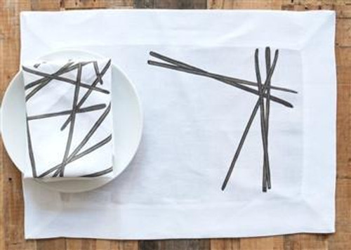 London Placemat and Napkin by Huddleson Linens