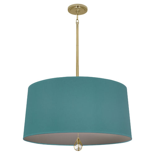 Mayo Teal Fabric Shade With Carter Gray Lining