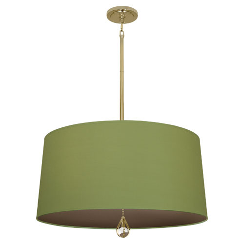 Parrot Green Fabric Shade With Revolutionary Storm Lining