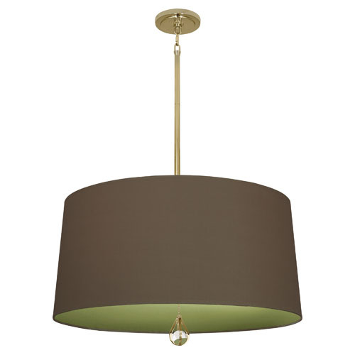 Revolutionary Storm Fabric Shade With Parrot Green Lining