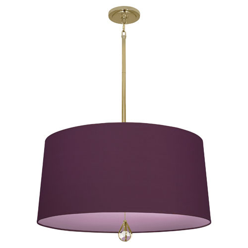 Greenhow Grape Fabric Shade With Ludwell Lilac Lining