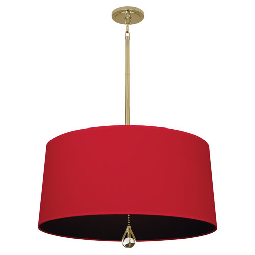 Richmond Red Fabric Shade With Blacksmith Black Lining