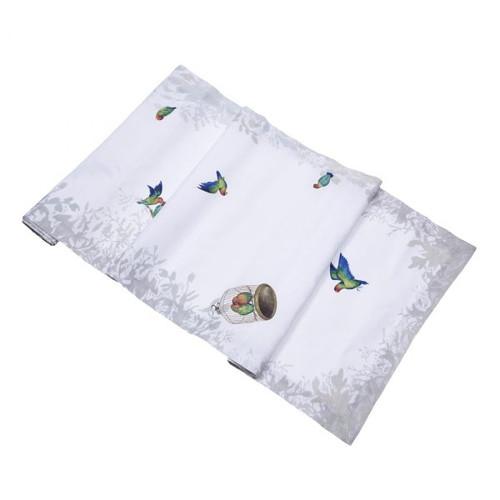 Lovebirds Linen Table Runner