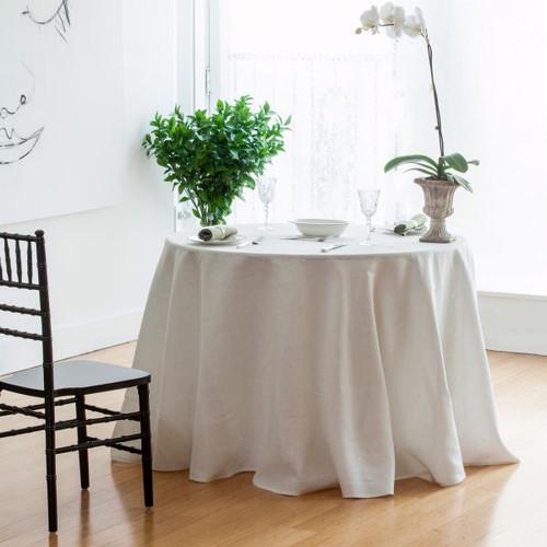 Ivory  Linen Tablecloth