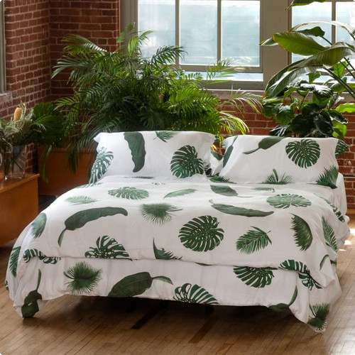 Tropical Leaves  Linen Bedding